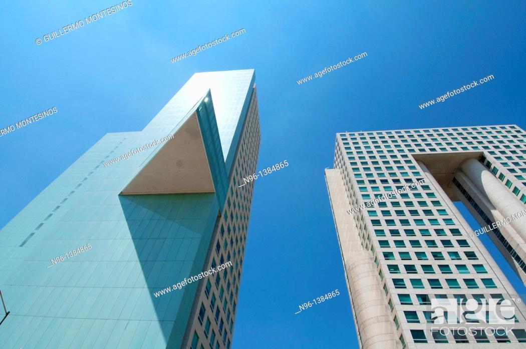 Stock Photo: El Pantalon building, Bosques de las Lomas, Mexico City, Mexico.
