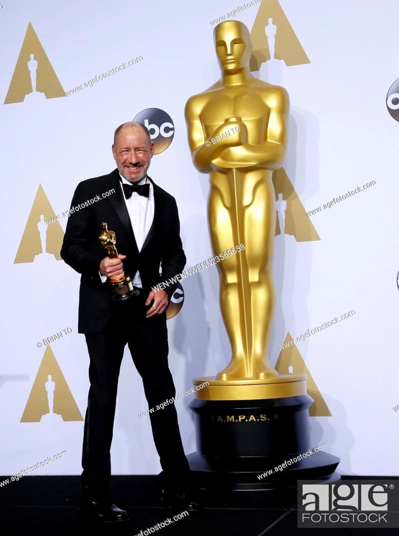 Stock Photo: The 88th Oscars live from the Dolby Theatre - Press Room Featuring: Steve Golin Where: Los Angeles, California, United States When: 28 Feb 2016 Credit: Brian.
