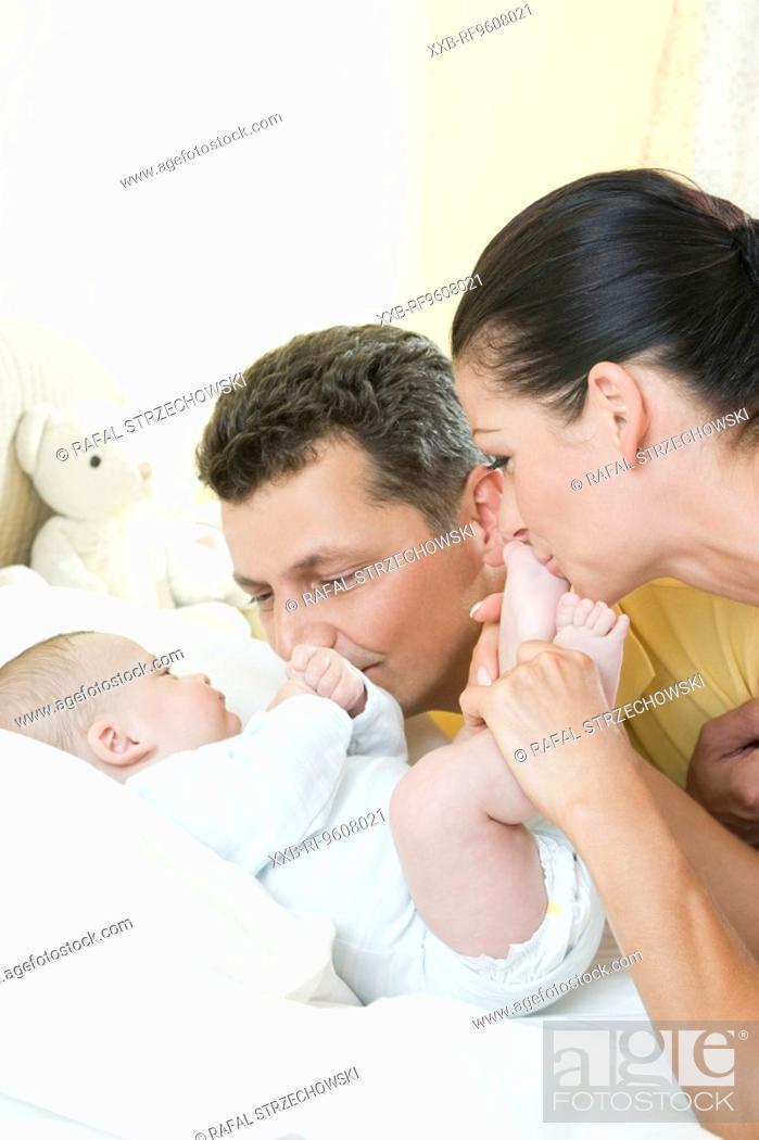 Stock Photo: Happy family.