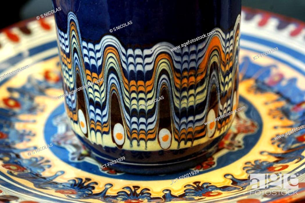 Stock Photo: Bulgaria, piece of pottery.