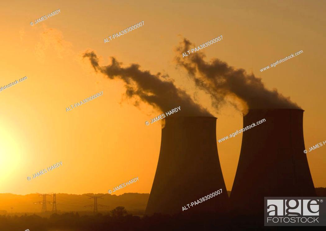 Stock Photo: Nuclear power plant, Nogent-sur-Seine, France.