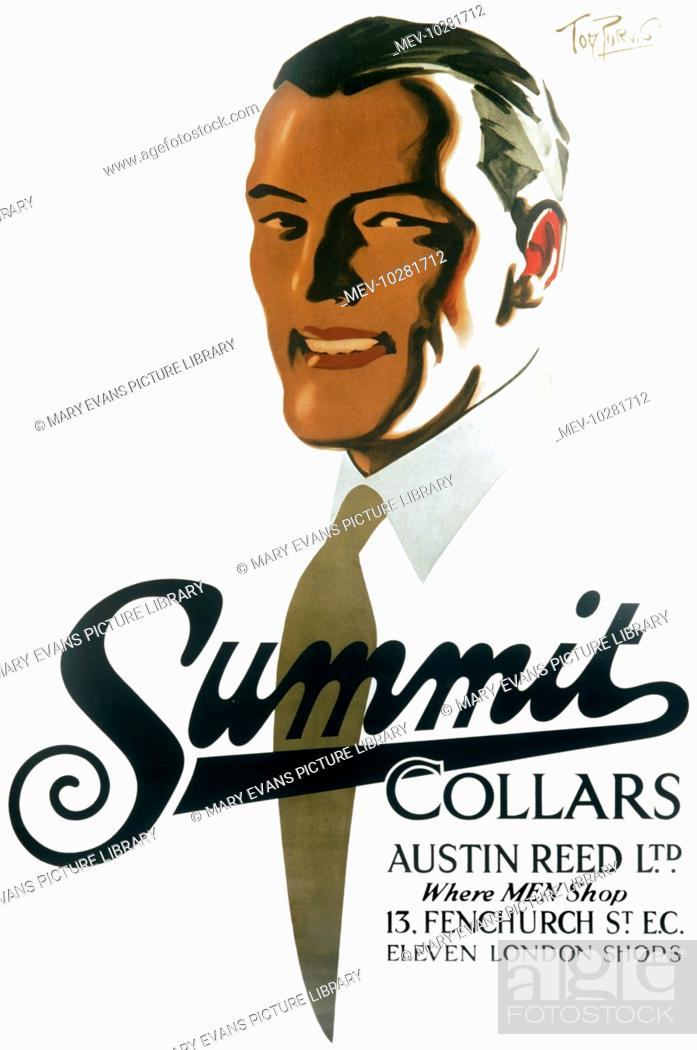 Poster Advertising Summit Collars From Austin Reed Ltd Where Men Shop Stock Photo Picture And Rights Managed Image Pic Mev 10281712 Agefotostock