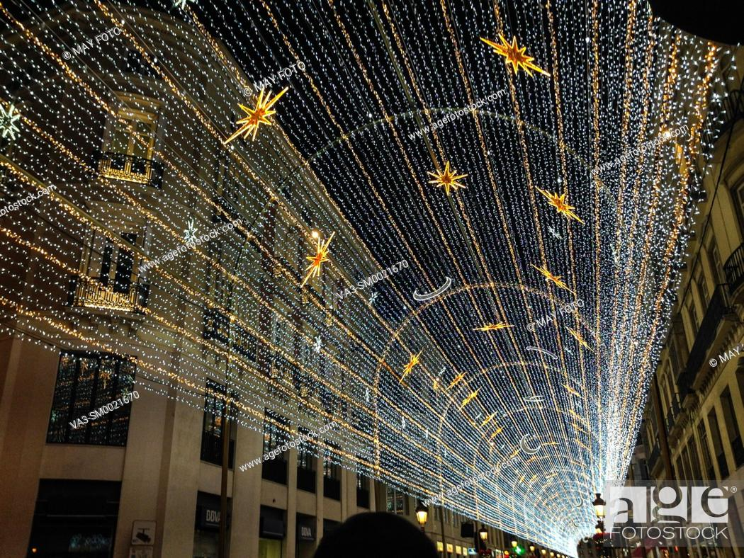 Imagen: Málaga, Christmas lights, Spain, Europe.
