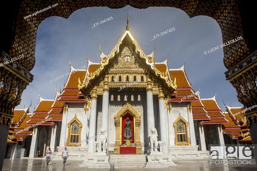 Photo de stock: Wat Benchamabophit temple, Bangkok, Thailand.