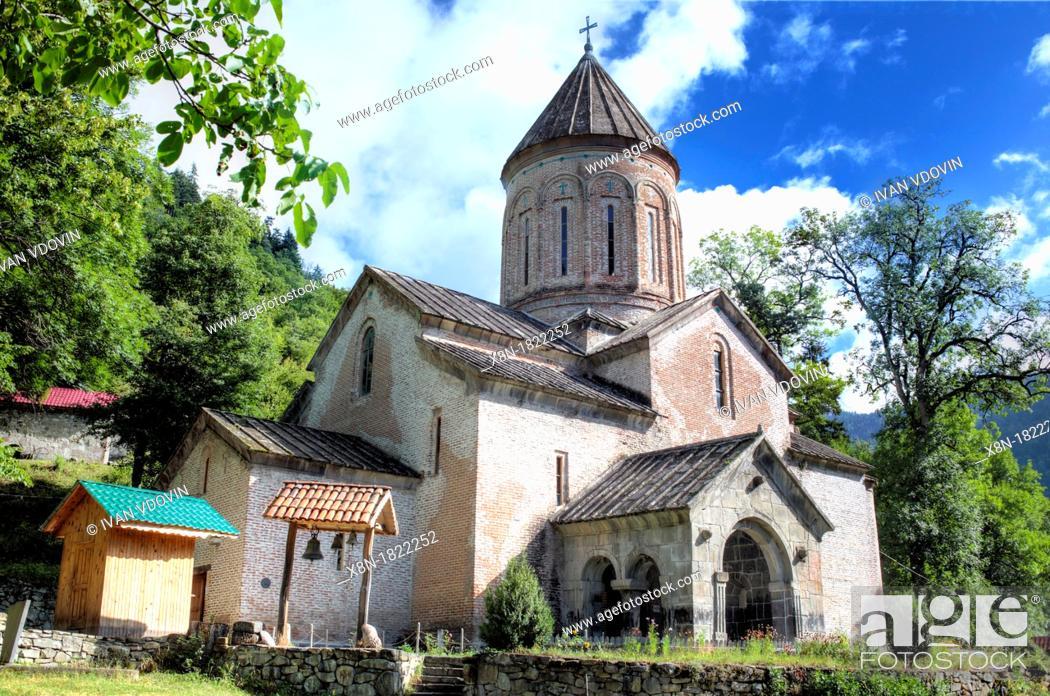Stock Photo: Church of the Dormition 13th century, Timotesubani, Samtskhe-Javakheti, Georgia.