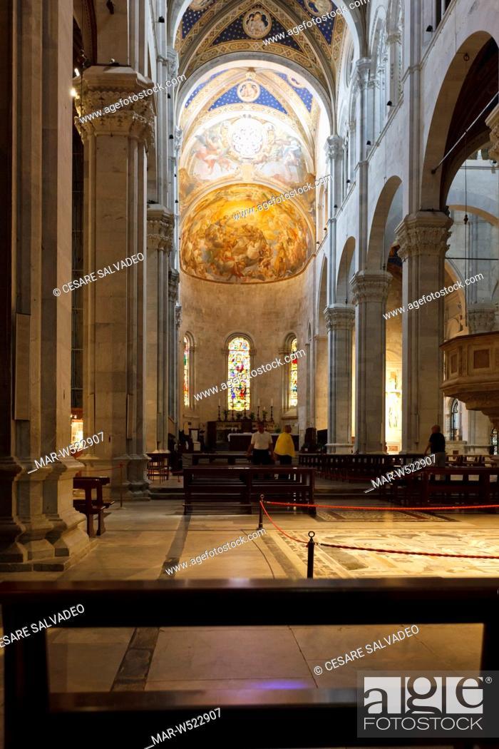 Interno Del Duomo Di San Martino Lucca Toscana Italia Europa Stock Photo Picture And Rights Managed Image Pic Mar W522907 Agefotostock