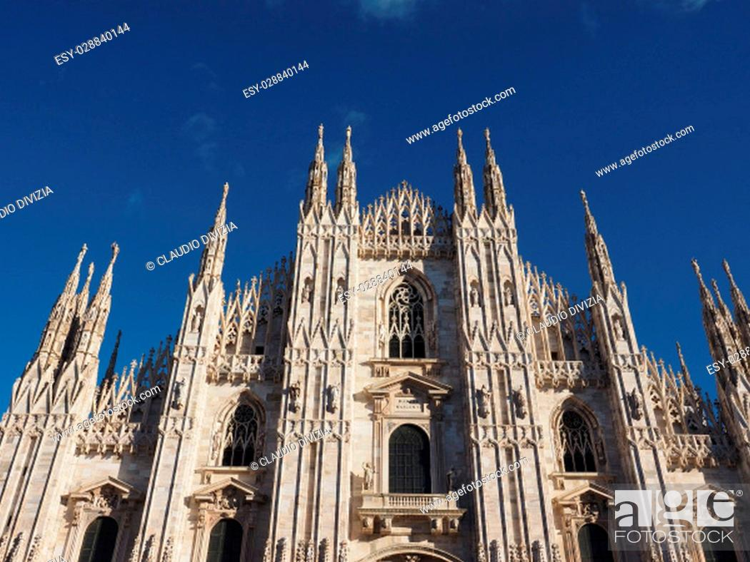 Photo de stock: Duomo di Milano (meaning Milan Cathedral) gothicl church in Milan, Italy.