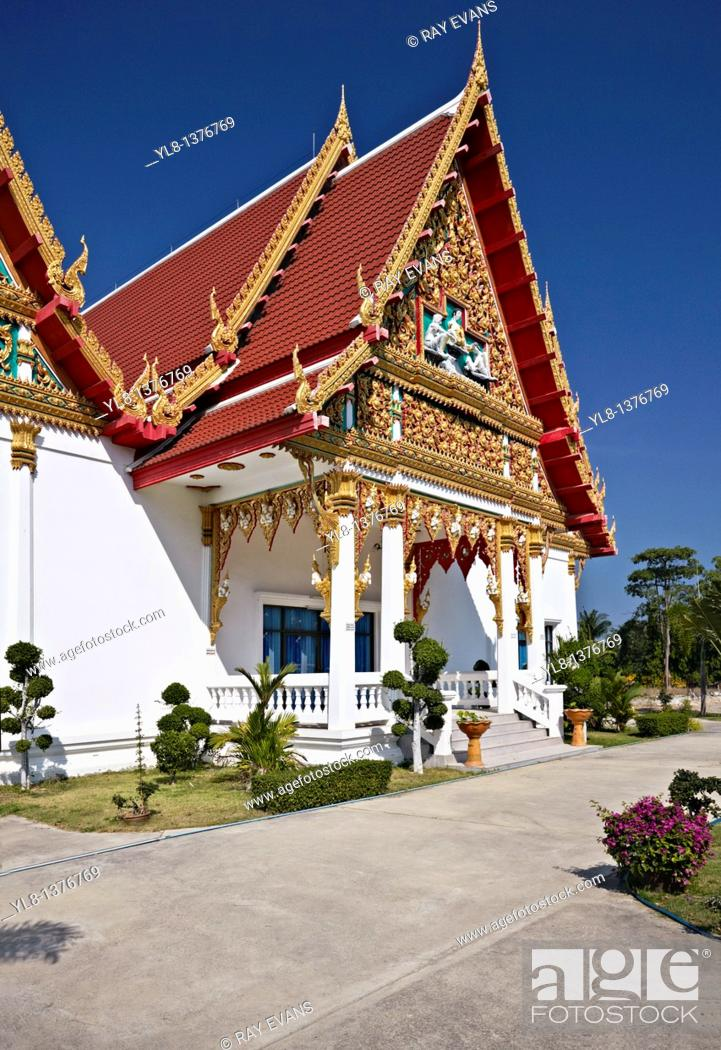 Stock Photo: Temple known as Wat Klai Kangwon in Hua Hin Thailand named after the Thai Kings Palace to be found nearby.