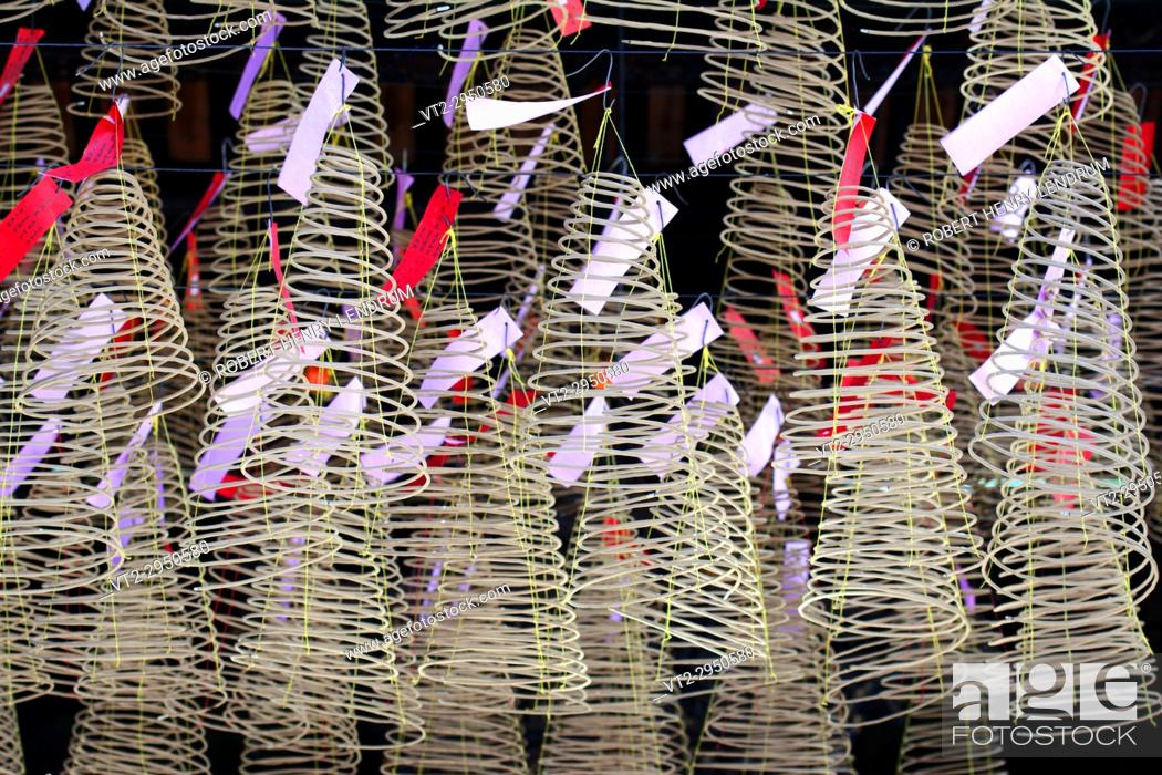 Stock Photo: Chinese incense coils.