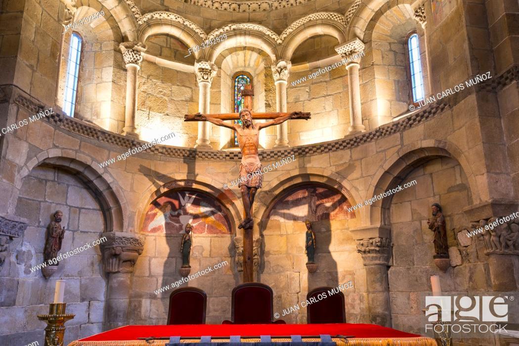 Stock Photo: Colegiata de San Martin de Elines, San Martin de Elines, Valderredible Municipality, Comarca Campoo Los Valles, Cantabria, Spain, Europe.