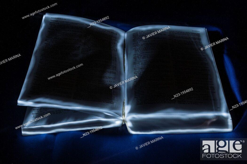 Stock Photo: open book.