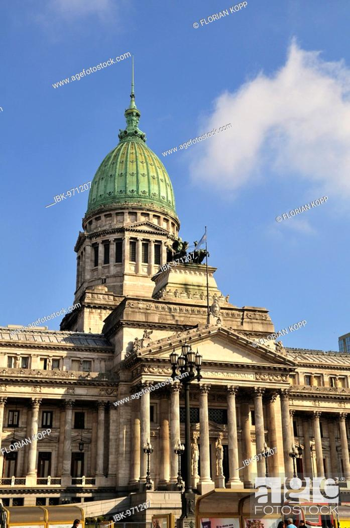 Stock Photo: National Congress, Congreso National, Buenos Aires, Argentina, South America.