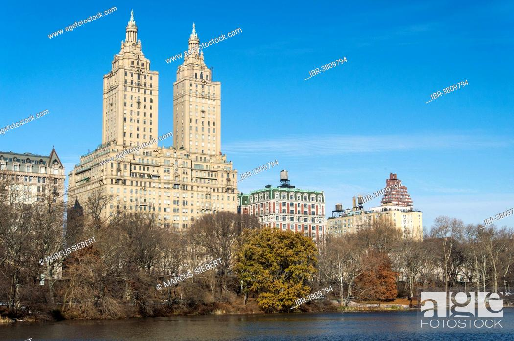 Stock Photo The San Remo Luxury Apartment Building On Central Park New York City Usa