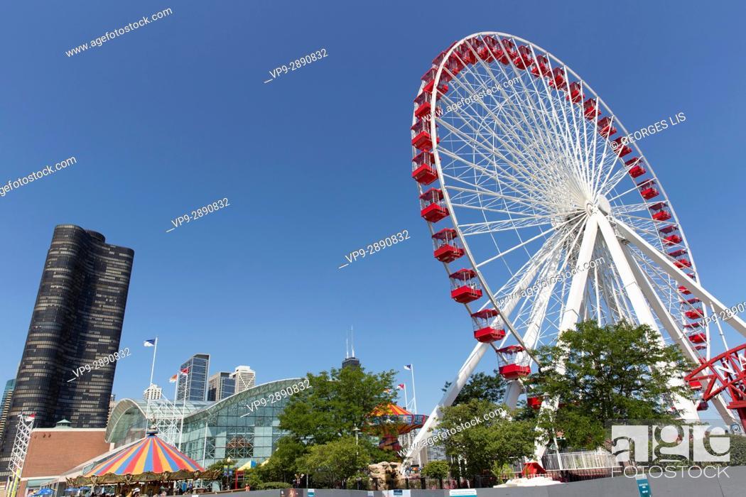 Imagen: Ferris Wheel Willis Tower Navy Pier.