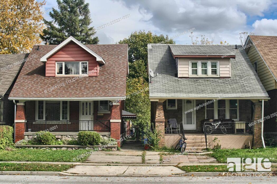 Imagen: Houses in Windsor, Ontario, Canada.