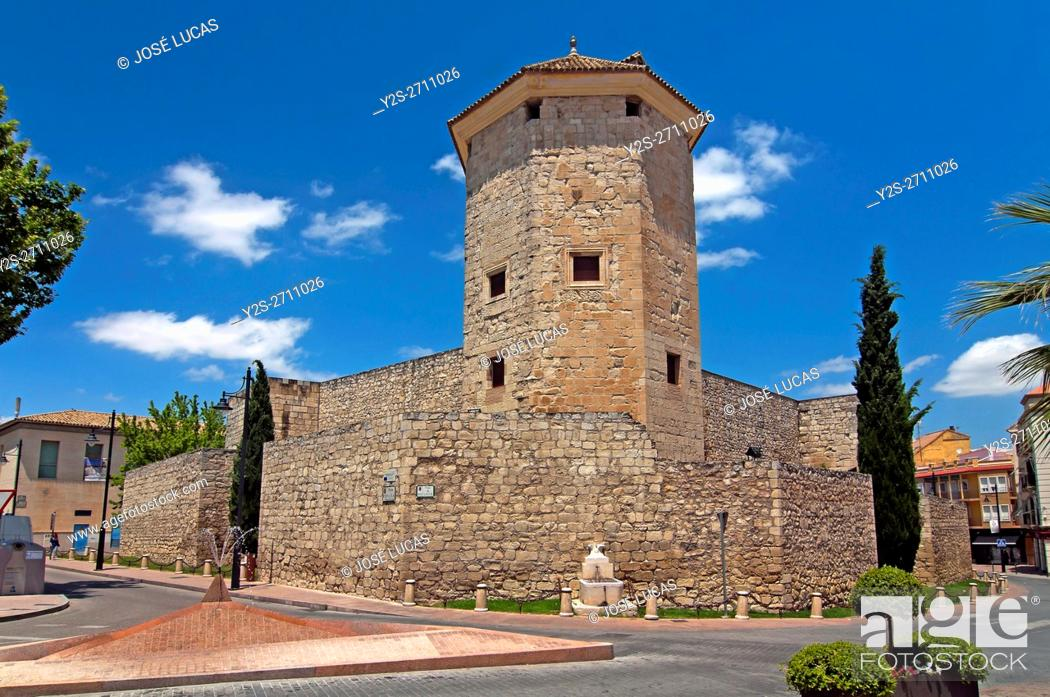 Stock Photo: The Moral Castle - 11th century, Lucena, Cordoba province, Region of Andalusia, Spain, Europe.