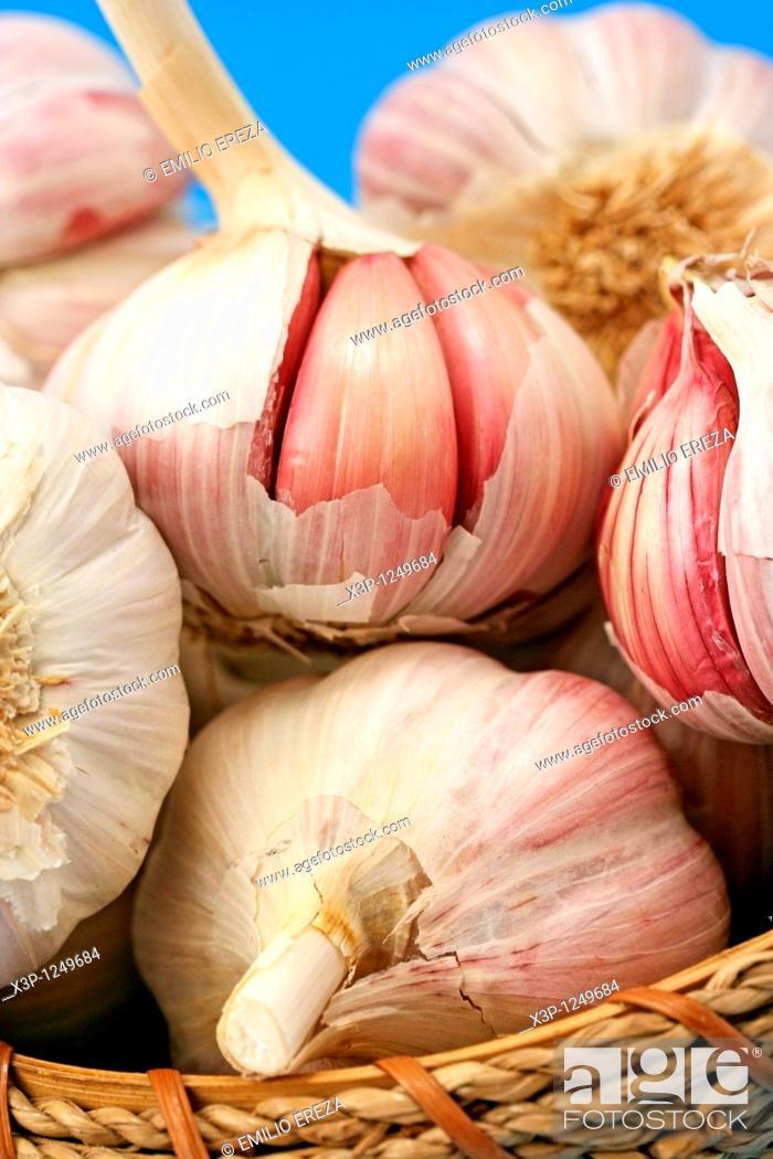 Stock Photo: Garlics.