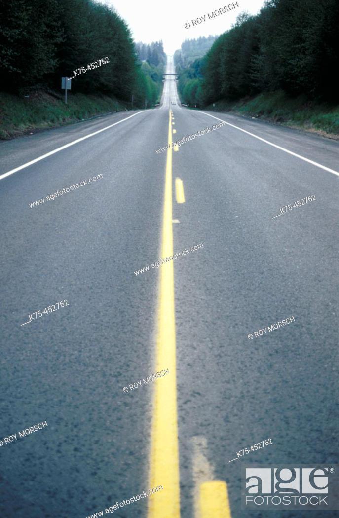 Stock Photo: Rural highway, Rt 97, Lordsville. New York, USA.