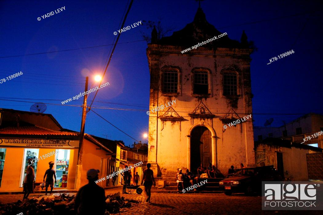 Stock Photo: Old Colonial buildings in Cachoeira, Bahia, Brazil.