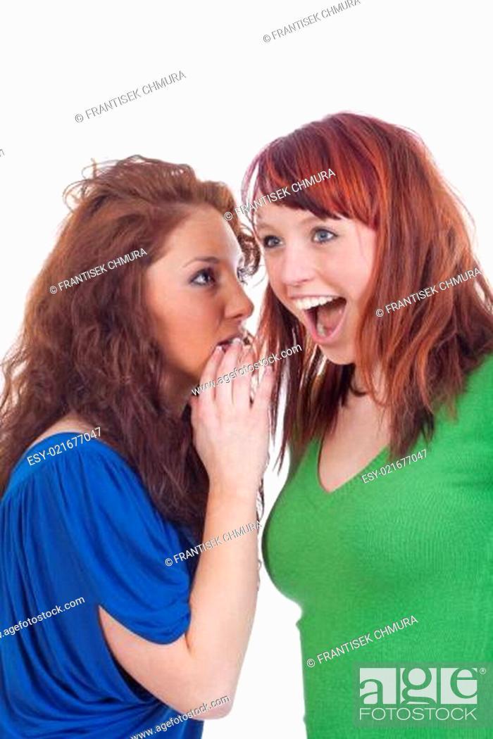 Stock Photo: women whispering gossip.
