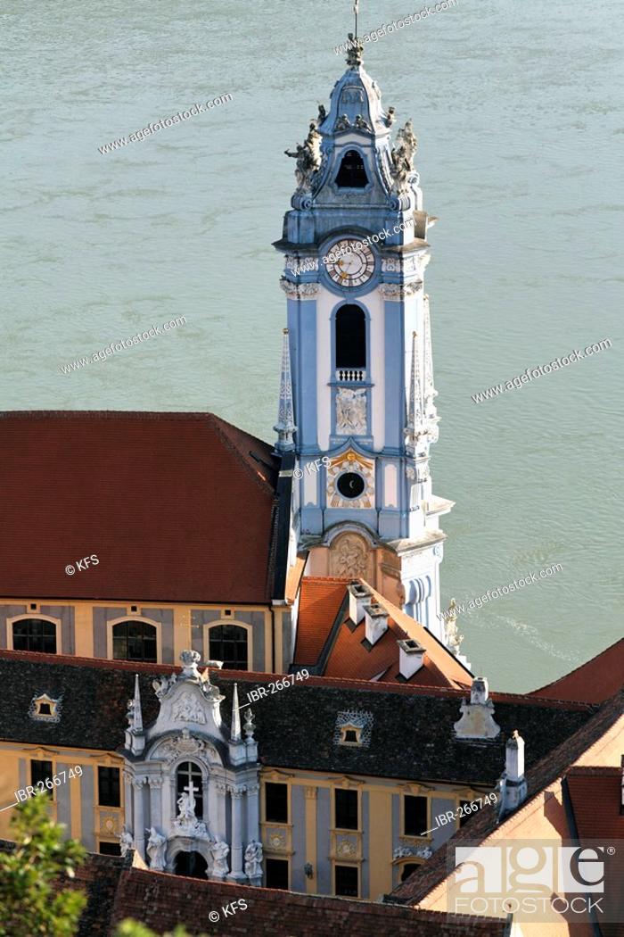 Stock Photo: Duernstein, baroque church, Wachau, Lower Austria, Austria.