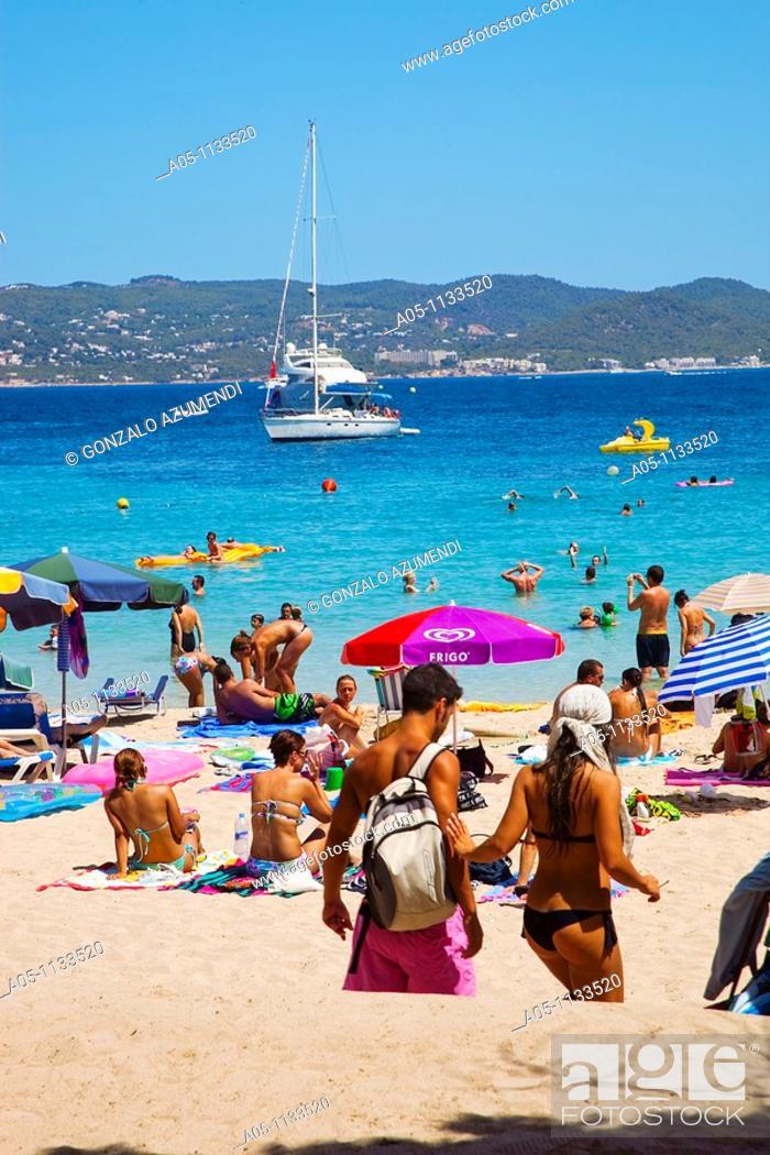 Cala Bassa  Ibiza  Balearic Islands  Spain, Stock Photo
