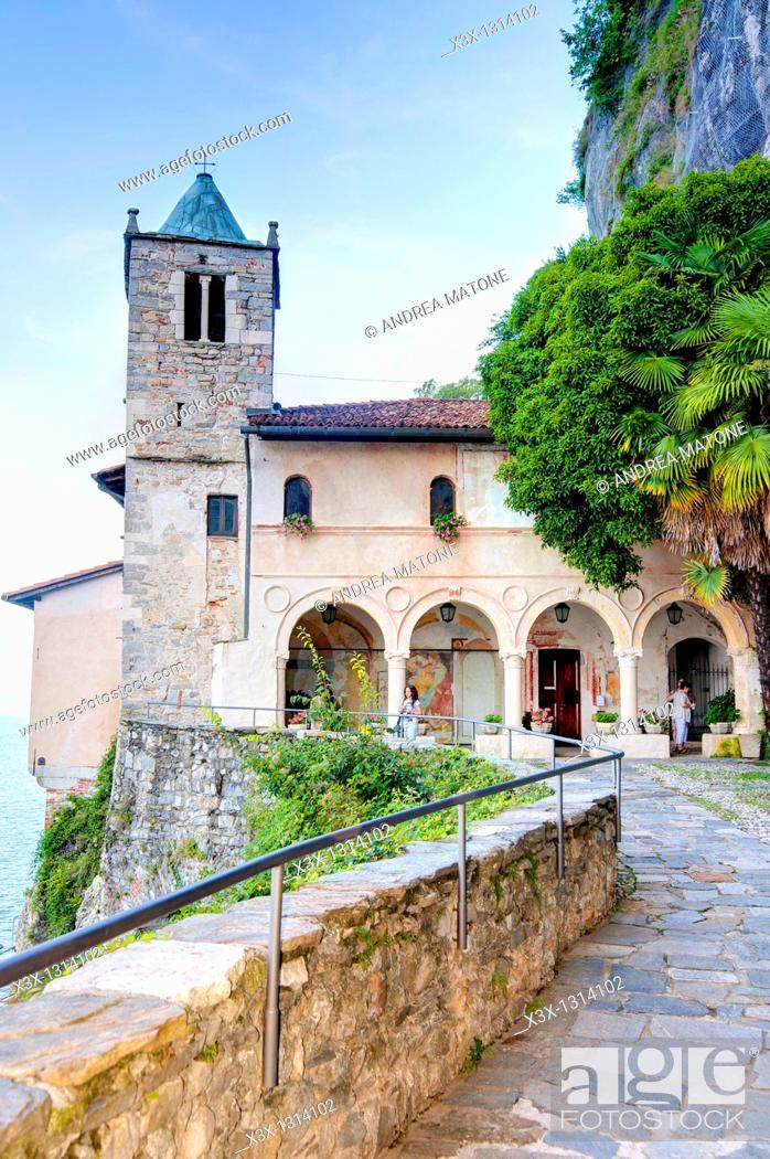 Stock Photo: Inside Eremo San Caterina del Sasso Lago Maggiore Italy.