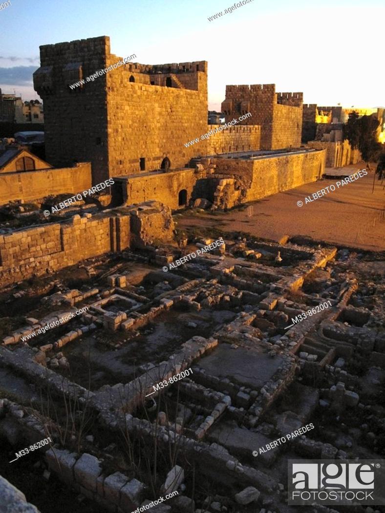 Stock Photo: Citadel, Damascus, Syria.