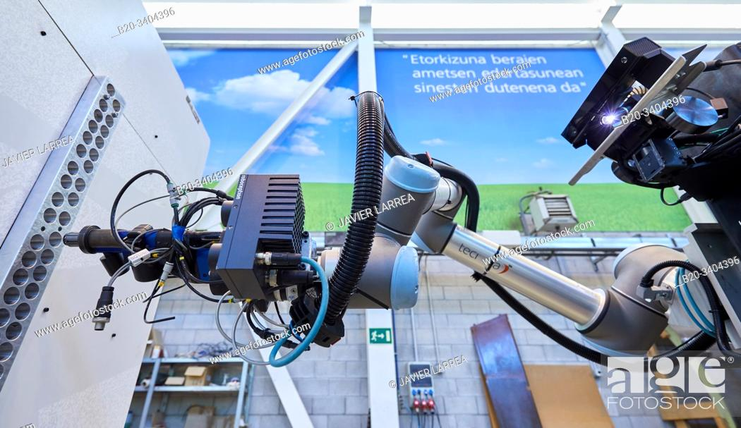 Stock Photo: Use of flexible robotics in industrial manufacturing processes, Mobile robot, Advanced manufacturing Unit, Technology Centre, Tecnalia Research & Innovation.