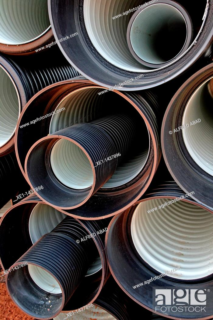 Stock Photo: pipes, construction materials.