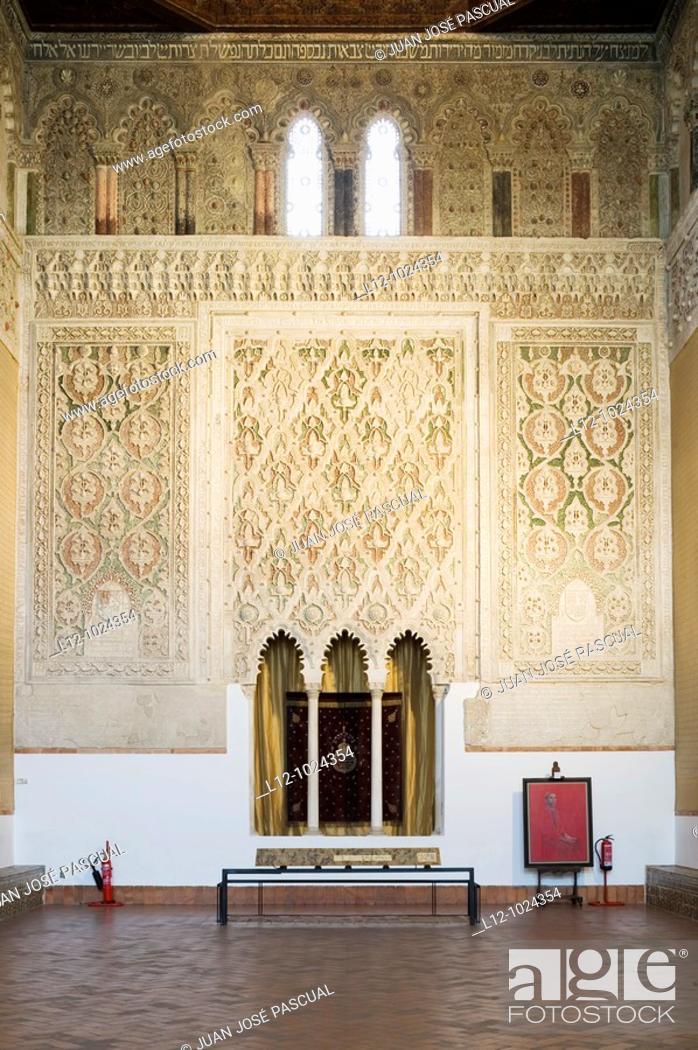 Stock Photo: Synagogue of El Transito, Toledo, Castilla-La Mancha, Spain.