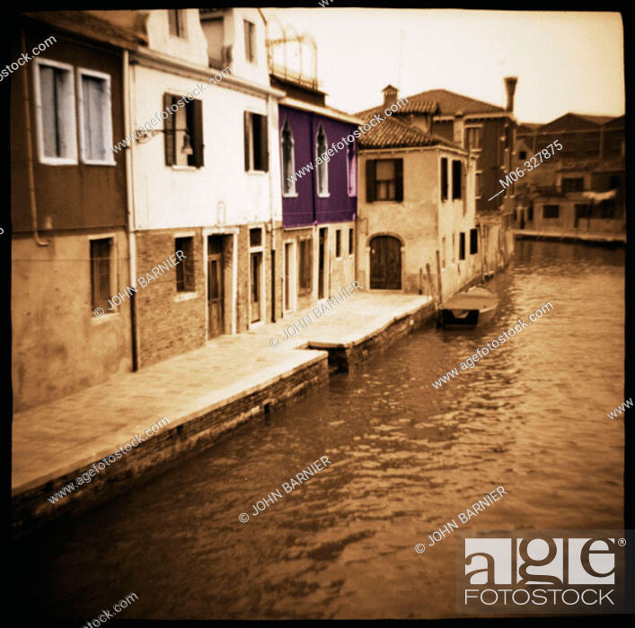 Stock Photo: Canal in Murano, north of Venice. Italy.