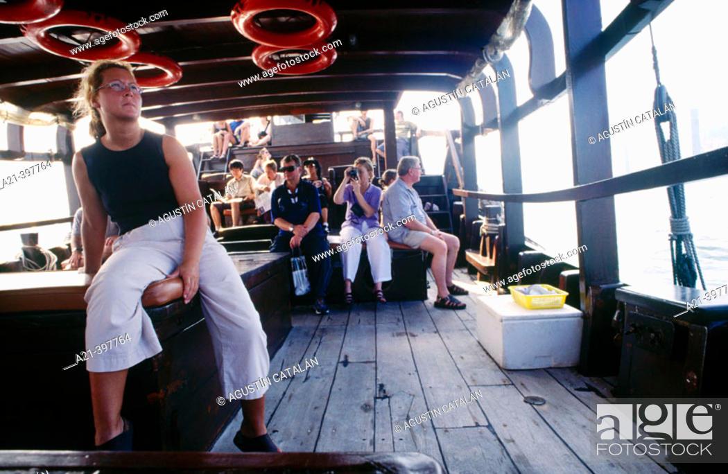 Stock Photo: Ferry. Hong Kong. China.