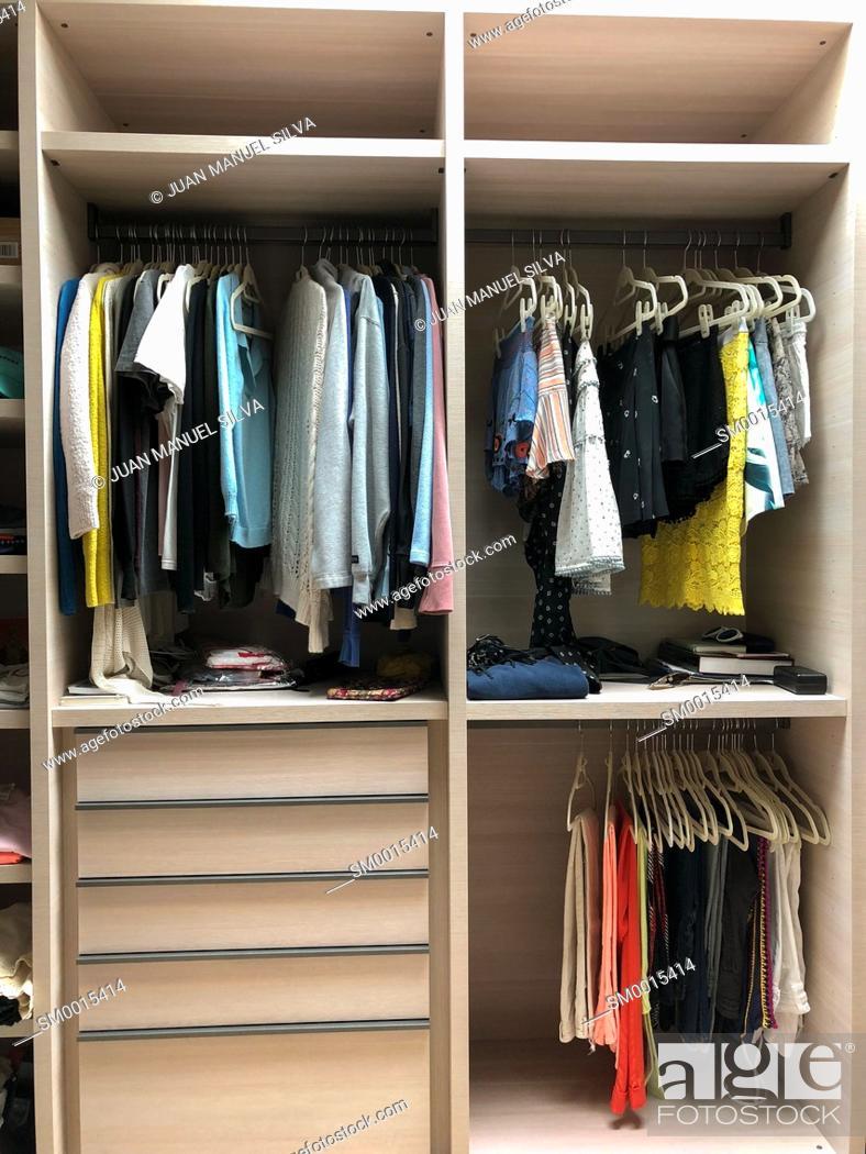 Stock Photo: Walk-in closet.