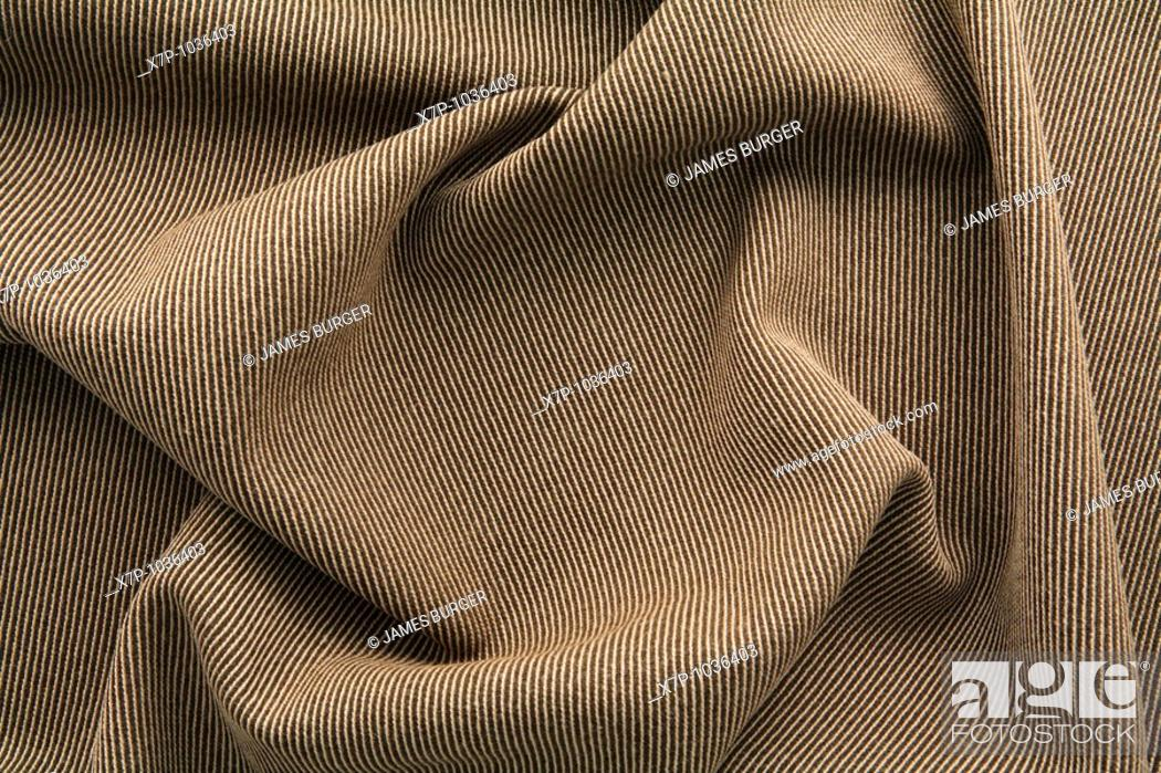 Stock Photo: brown striped wool.