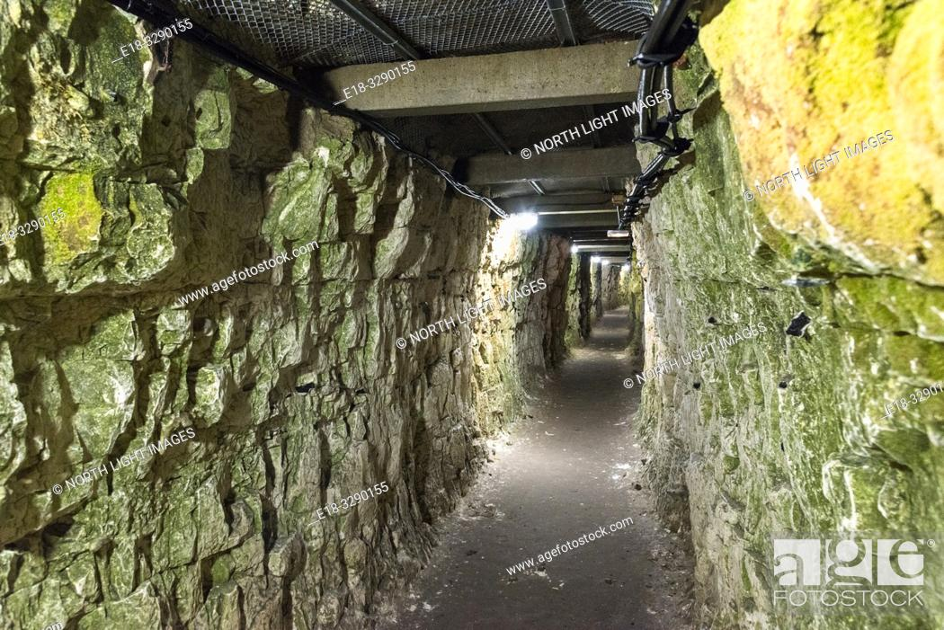 Stock Photo: France, Arras, Vimy Ridge Memorial. Permanent display of World War 1 trenches and connecting tunnels. The main combatants were four divisions of the Canadian.
