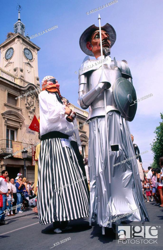 Stock Photo: 'Gigantes y cabezudos'. Alcala de Henares. Madrid province. Spain.