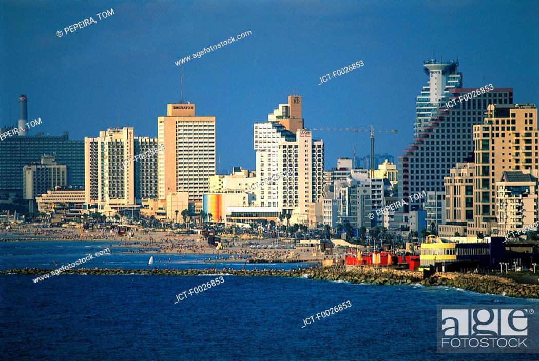 Stock Photo: Israel, Tel Aviv, view from Jaffa.