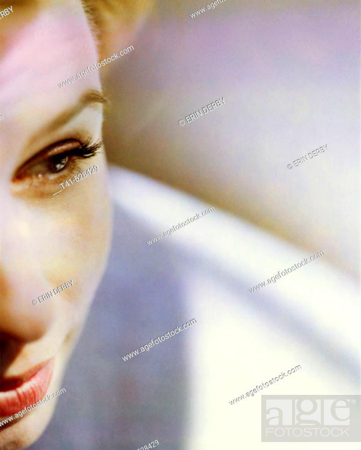 Stock Photo: Closeup of a woman. Beauty.