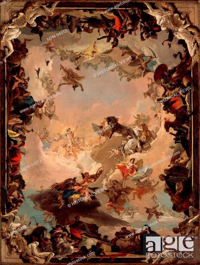 Stock Photo: Allegory of the Planets and Continents. Artist: Giovanni Battista Tiepolo (Italian, Venice 1696-1770 Madrid); Date: 1752; Medium: Oil on canvas; Dimensions: 73.