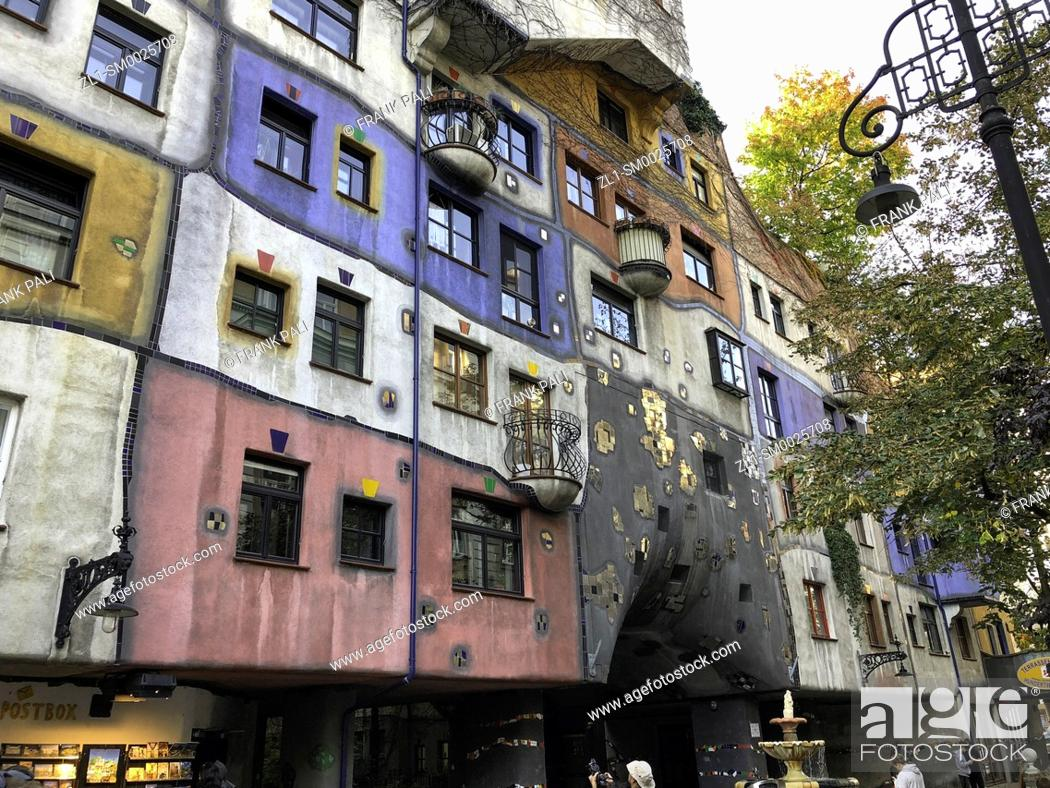 Stock Photo: Hundertwasser House.