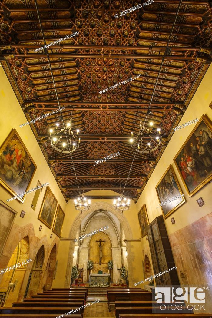 Stock Photo: Franciscan monastery of Santa Maria de la Rábida, Conventual temple of Gothic Mudejar style. Palos de la Frontera. Huelva province.