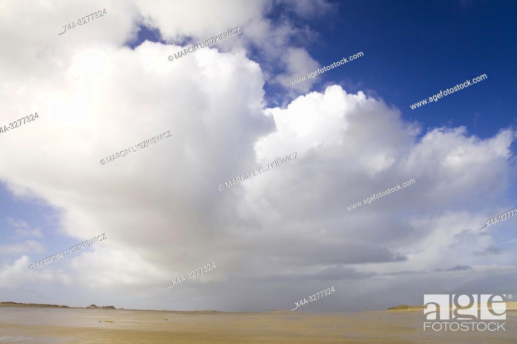 Stock Photo: Wadden Sea coast, Terschelling island, Netherlands.