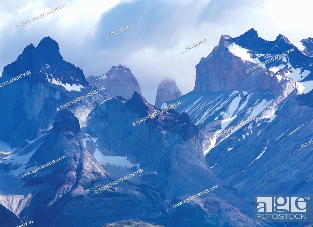 Stock Photo: Torres del Paine National Park,Patagonia,Chile.