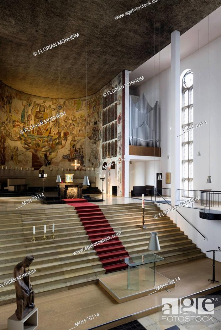 Imagen: Köln-Hohenlind, St. Elisabeth Krankenhaus, Kirche 1932 von Dominikus Böhm erbaut.
