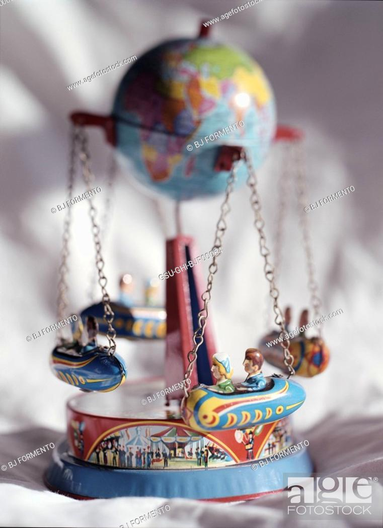 Stock Photo: merry go round, global.