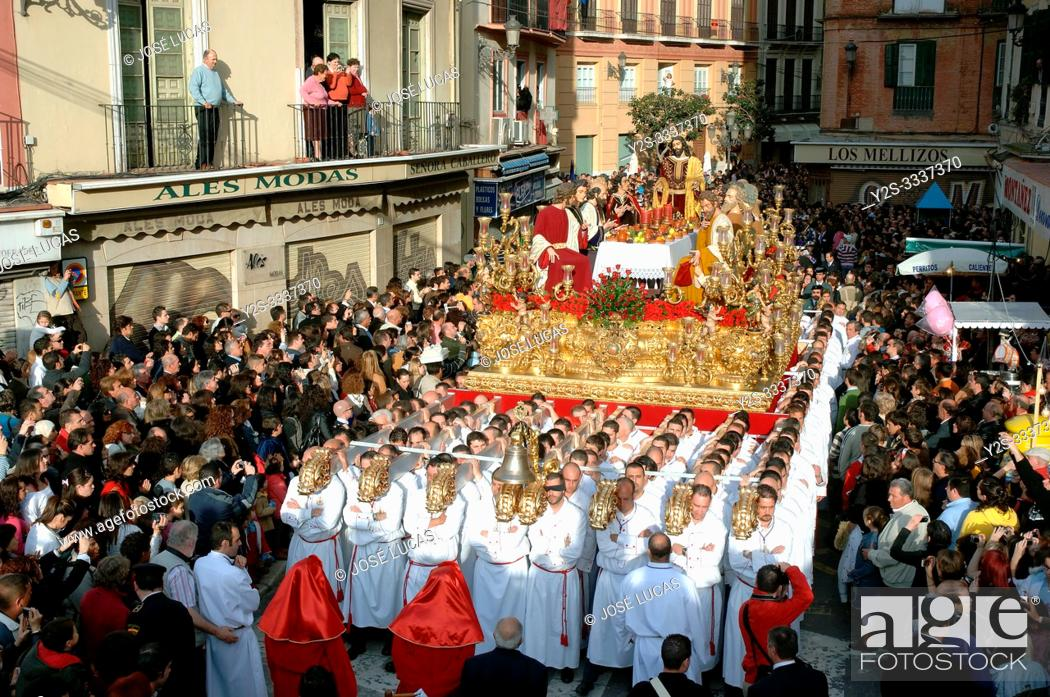 Stock Photo: Holy Week. Brotherhood of The Last Supper. Malaga. Costa del Sol. Region of Andalusia. Spain. Europe.