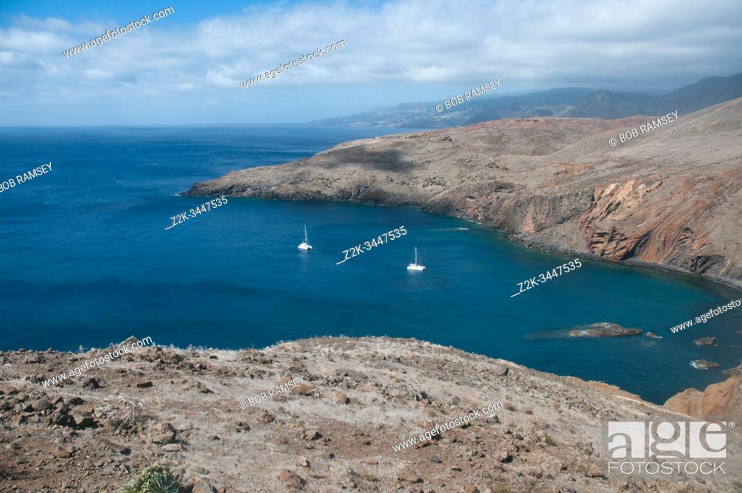 Stock Photo: Natural littoral in Cap Sao Laurenço in Madeira island, Portugal.