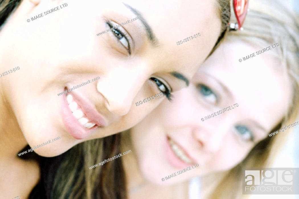 Stock Photo: Young women smiling.