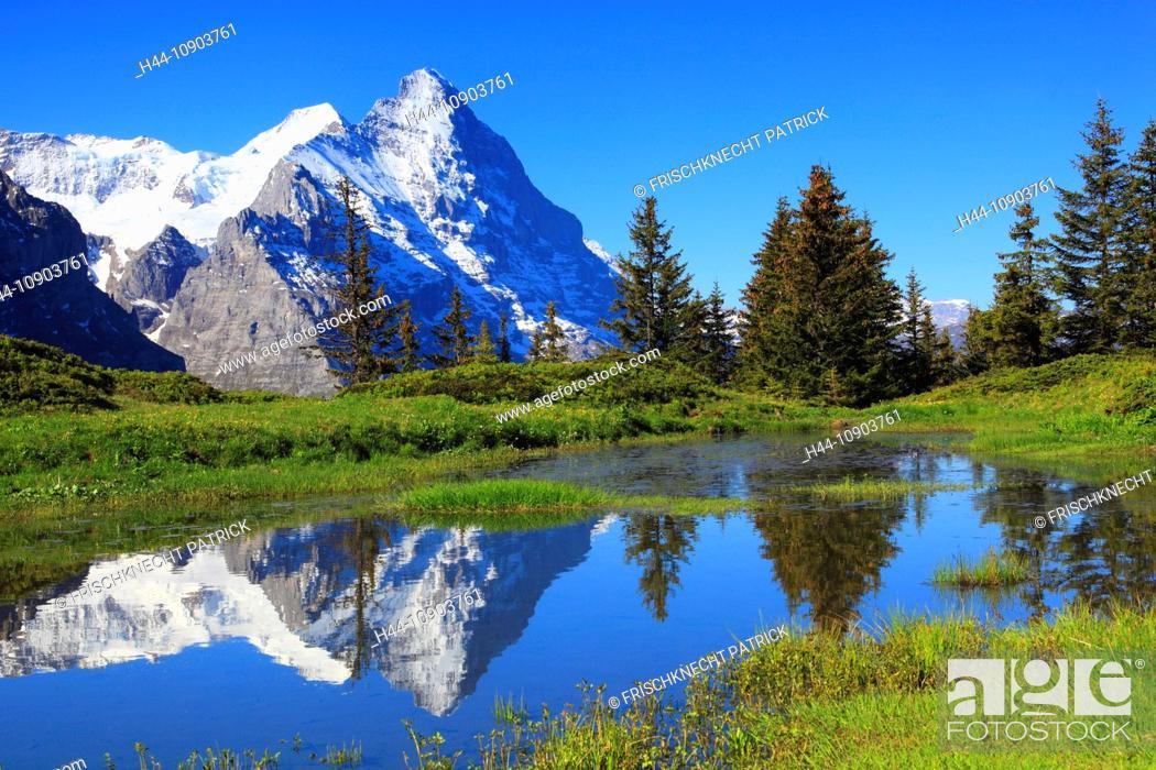Imagen: Eiger and Mönch mountains, Bernese Alps, Switzerland.